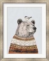 Fair Isle Bear I Fine-Art Print