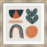 Retro Orange Teal Fine-Art Print