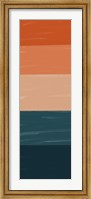 Teal Orange Sunset I Fine-Art Print