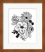 Flower Sketch III Fine-Art Print