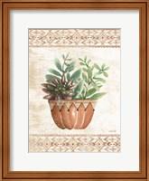 Southwest Terracotta Succulents I Fine-Art Print
