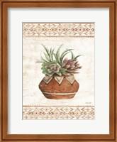 Southwest Terracotta Succulents II Fine-Art Print