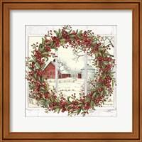 Winter Barn Window View I Fine-Art Print