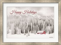 Rocky Mountains Snow Storm with Barn Fine-Art Print