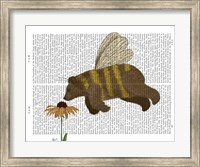 Bear Bee Book Print Fine-Art Print