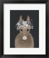 Donkey White Flowers Fine-Art Print