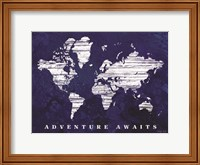 Adventure Awaits Map Fine-Art Print
