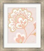 Flora Chinoiserie VI Textured Terra Fine-Art Print