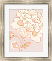 Flora Chinoiserie V Textured Terra Fine-Art Print