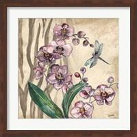 Boho Orchid & Dragonfly I Fine-Art Print