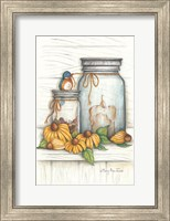 Blue Bird and Coneflowers Fine-Art Print