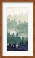 Mountainscape Navy Panel II Fine-Art Print