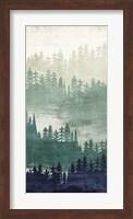 Mountainscape Navy Panel II Fine-Art Print