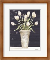 Tulips on Navy I Fine-Art Print