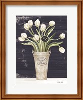Tulips on Navy II Fine-Art Print