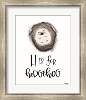 H is for Hedgehog Fine-Art Print