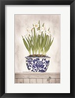 Blue and White Daffodils II Fine-Art Print