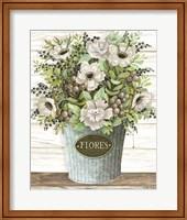 Flores Galvanized Bucket Fine-Art Print