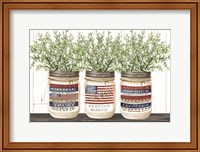 Patriotic Glass Jar Trio I Fine-Art Print
