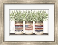 Patriotic Glass Jar Trio I Fine-Art Print