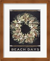 Beach Days Shell Wreath Fine-Art Print