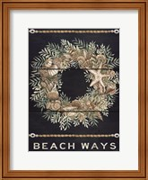 Beach Ways Shell Wreath Fine-Art Print