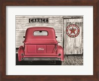Red Truck with Texaco Sign Fine-Art Print