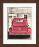 Red Ford at Barn Fine-Art Print