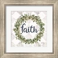 Faith Eucalyptus Wreath Fine-Art Print