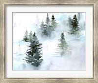 Foggy Evergreens I Fine-Art Print