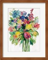 Earthy Colors Bouquet II White Fine-Art Print