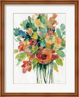 Earthy Colors Bouquet I White Fine-Art Print