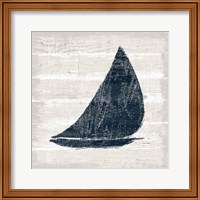 Driftwood Coast I Blue Fine-Art Print