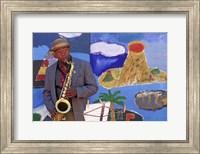 Black Jazz Street Performer, San Fransisco Fine-Art Print