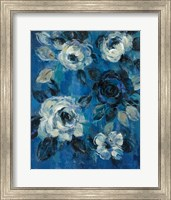 Loose Flowers on Blue II Fine-Art Print