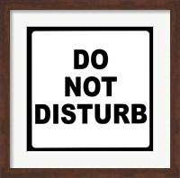 Sign - Do Not Disturb Fine-Art Print