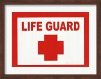 Sign - Life Guard Fine-Art Print