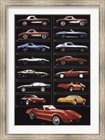 Corvette 15 Models Wall Poster