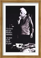 Albert Einstein - Don't Worry Wall Poster
