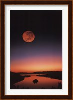 Lake Tahoe At Night Wall Poster