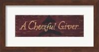 Cheerful Giver Fine-Art Print