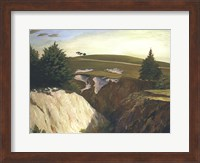 Sun Setting Behind the 18th at Pasatiempo Giclee