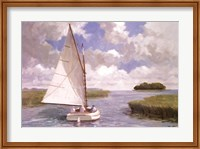 Catboat Through the Marsh Fine-Art Print
