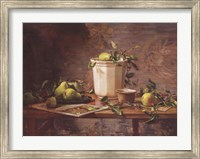 Pears and Tapestry Fine-Art Print