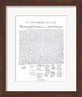Declaration of Independence Fine-Art Print