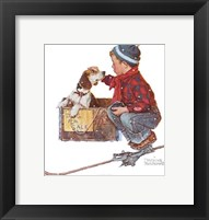 A Boy Meets His Dog Fine-Art Print