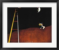 Dog Barking at the Moon Fine-Art Print