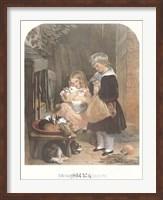 Children and Rabbits Fine-Art Print