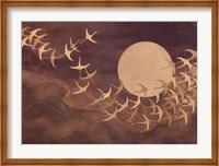 Cranes Over Moon Fine-Art Print