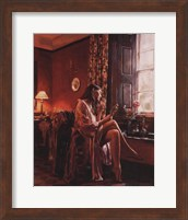 Femme avec Miroir Fine-Art Print